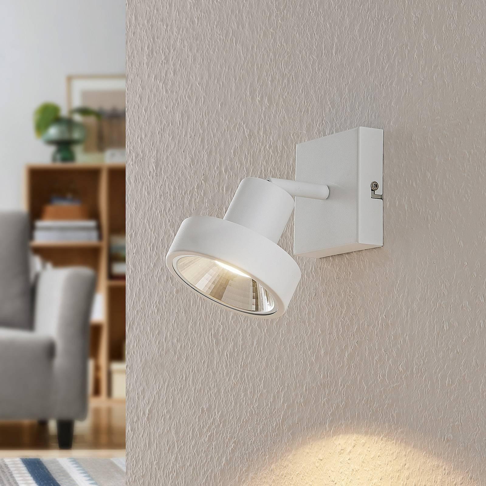 Lindby Ignacio -kattovalo, 1-lamppuinen, valkoinen