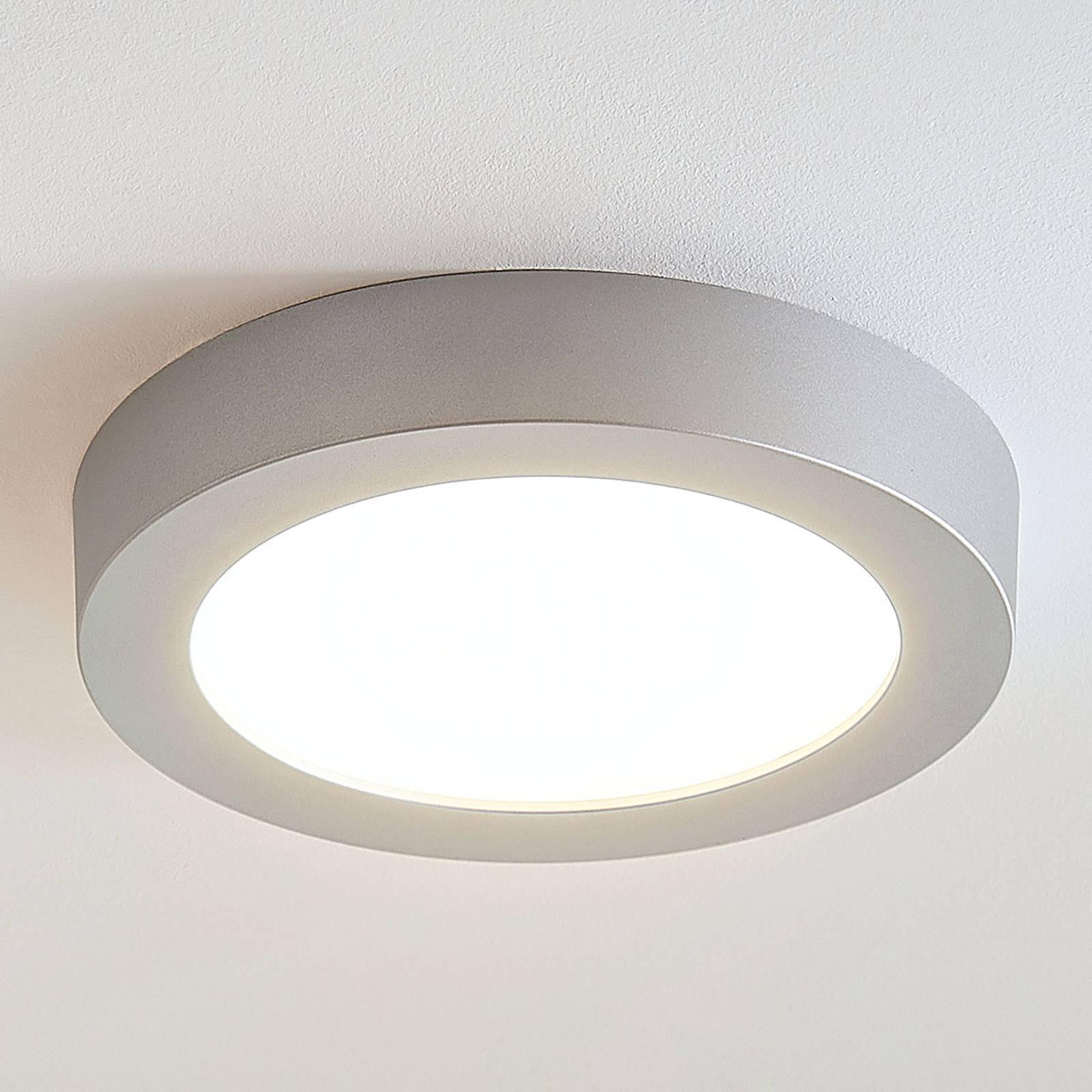 LED-kattovalo Marlo hopea 3 000 K pyöreä 25,2 cm