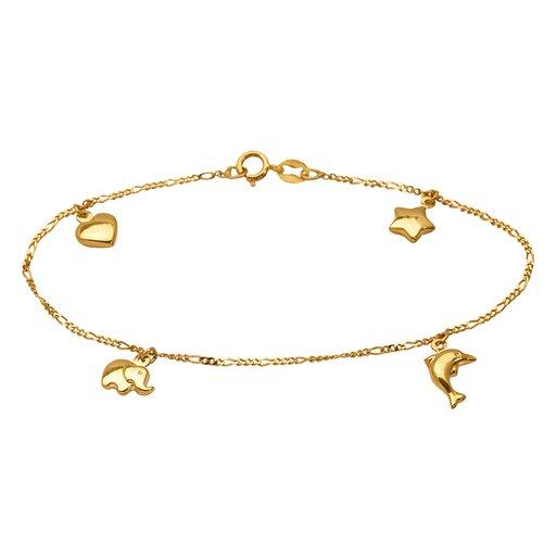 Armband i 18K guld 16cm