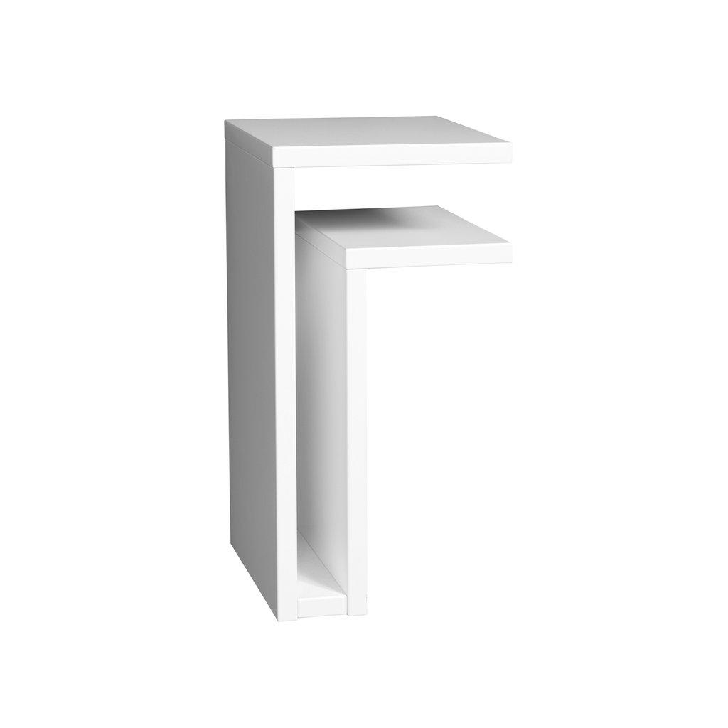 Vägghängt sängbord F-shelf vit höger, Maze