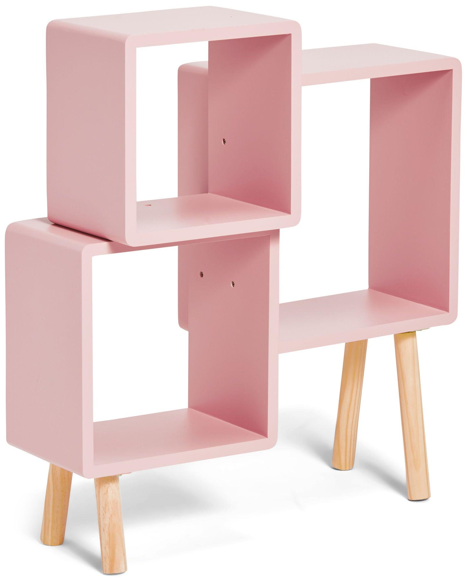 Alice & Fox Kirjahylly Cube, Vaaleanpunainen/Valkoinen