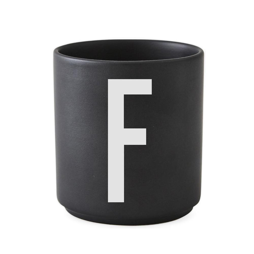 Design Letters - Personal Porcelain Cup F - Black