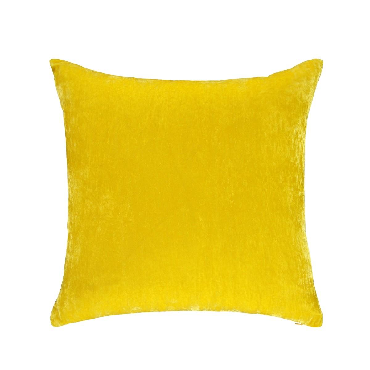 William Yeoward  Paddy Velvet Cushion Citron