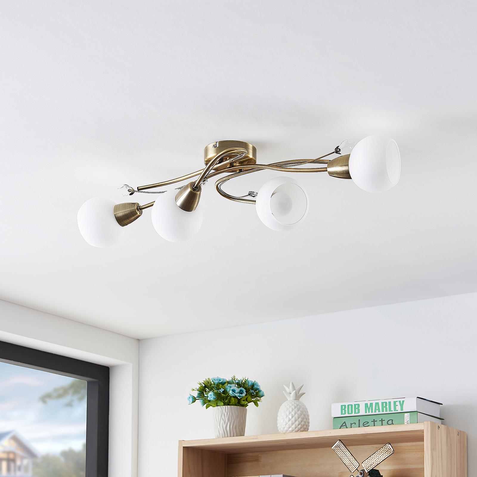 Lindby Floresca -kattovalaisin, 4-lamppuinen