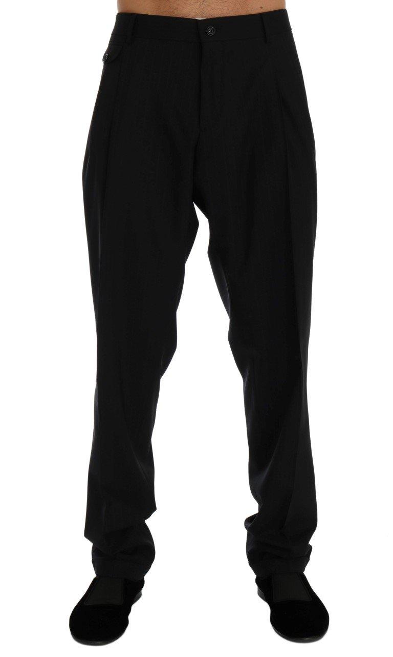 Dolce & Gabbana Men's Striped Wool Stretch Trouser Blue PAN60379 - IT54 | XXL
