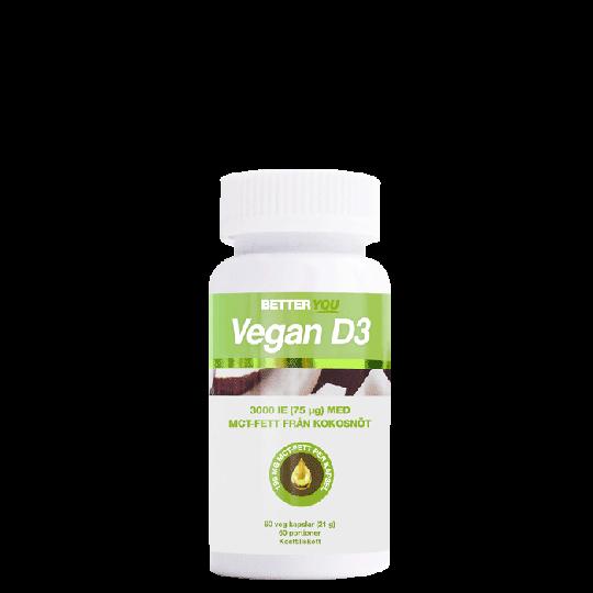 Vegan D3 3000IE + MCT-fett, 60 kapslar