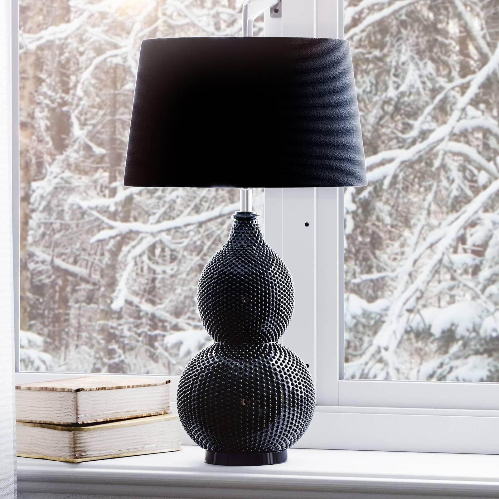 By Rydéns Lofty-bordlampe med tekstilskjerm svart
