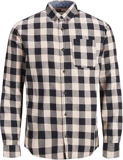 PRODUKT Graham Check Skjorte, Sandshell 134/140