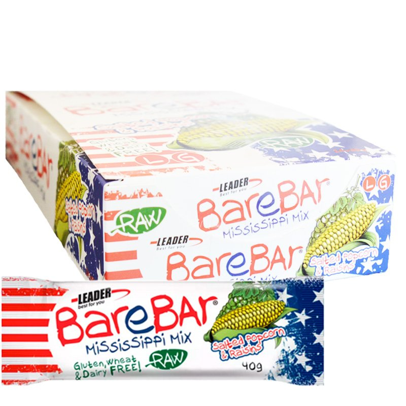 """Laatikollinen välipalapatukoita """"Raisin & Popcorn"""" 24 x 40 g - 86% alennus"""