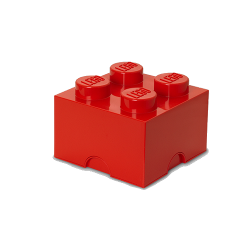 Room Copenhagen - LEGO Storeage Brick 4 - Red (40031730)