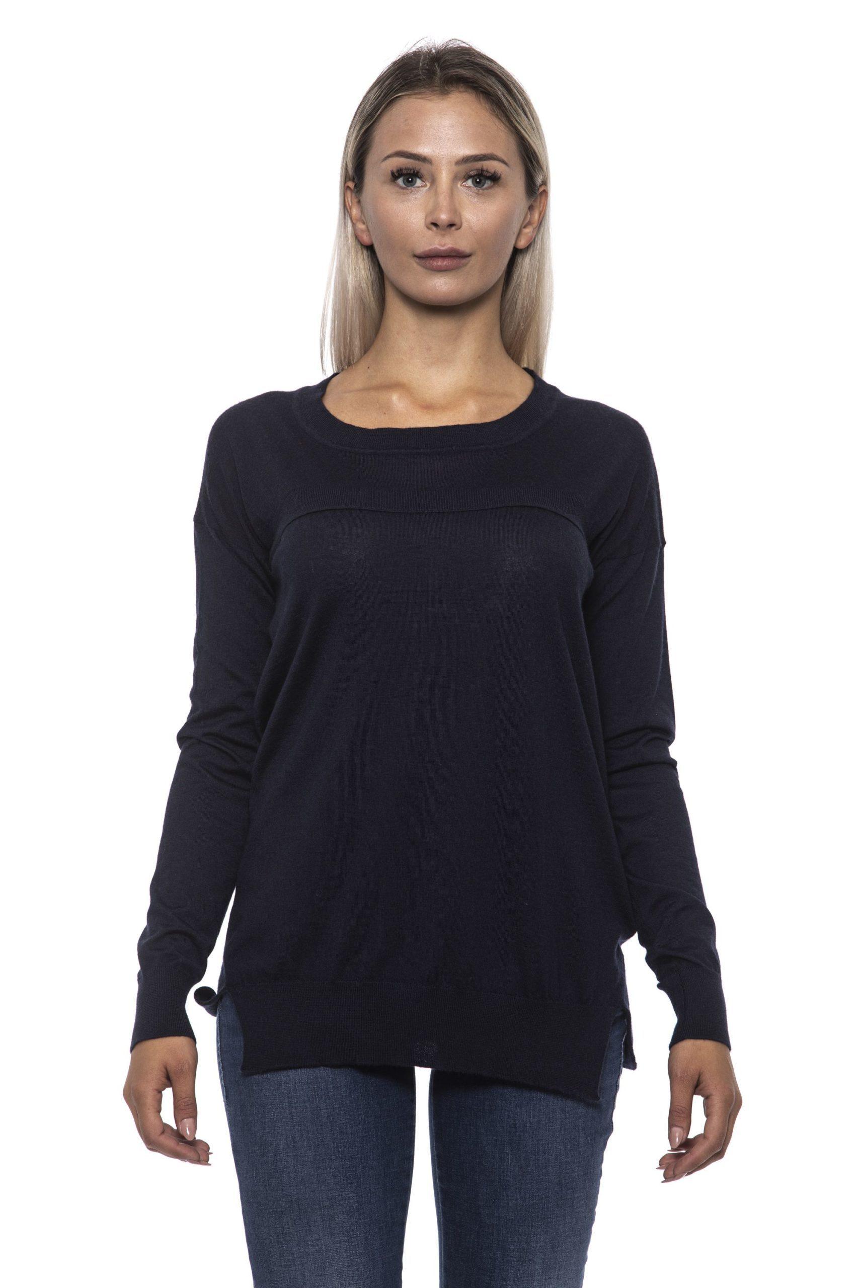 Alpha Studio Women's Blunotte Sweater Blue AL1314877 - IT42   S