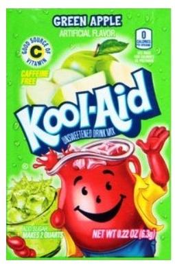 Kool-Aid Soft Drink Mix Green Apple