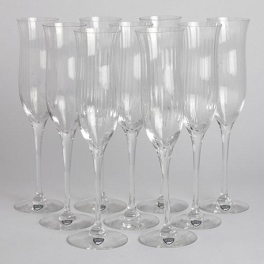 Orrefors - SÅLD Champagneglas 9 st