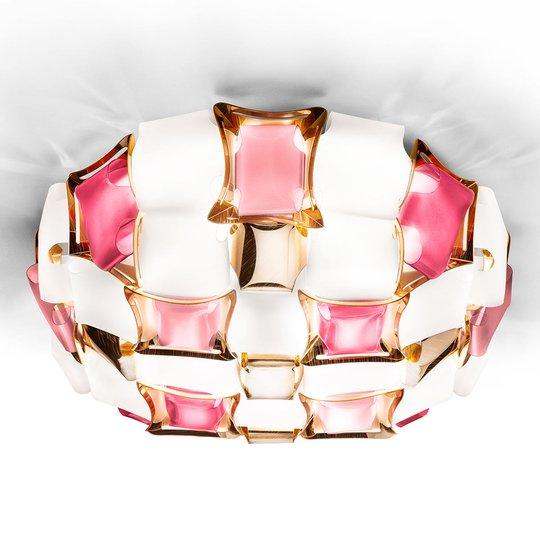 Slamp Mida -kattovalaisin, 50 cm, roosa