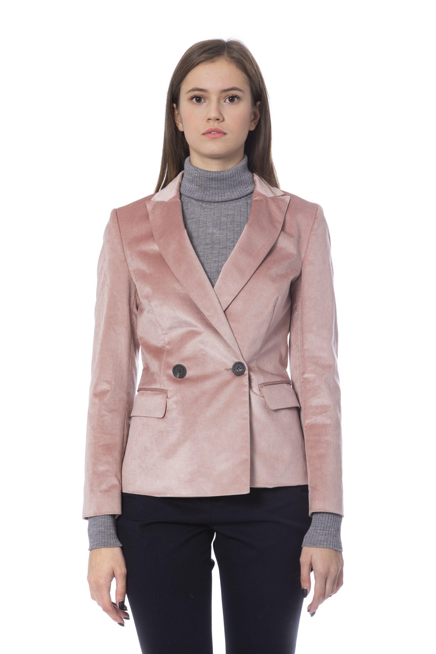 Peserico Women's Jacket Pink PE854240 - IT42   S
