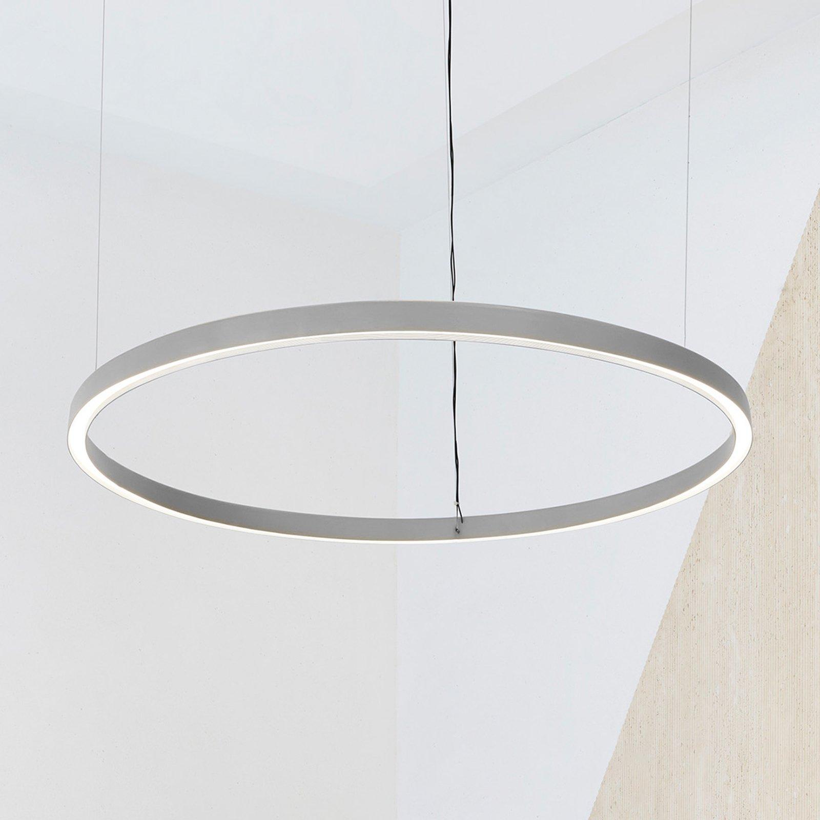 Luceplan Compendium Circle 110cm, aluminium