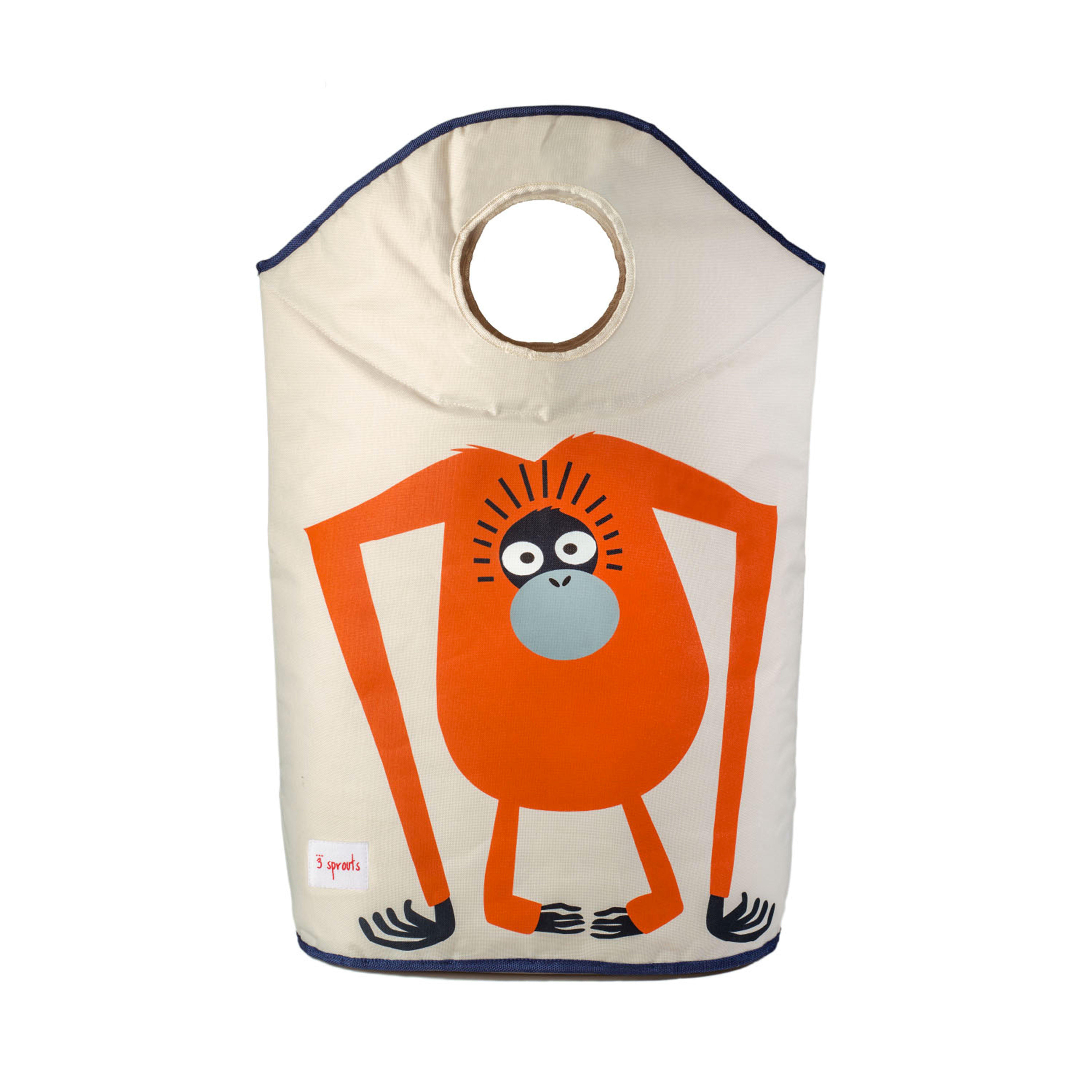 3 Sprouts - Laundry Hamper - Orange Orangutan