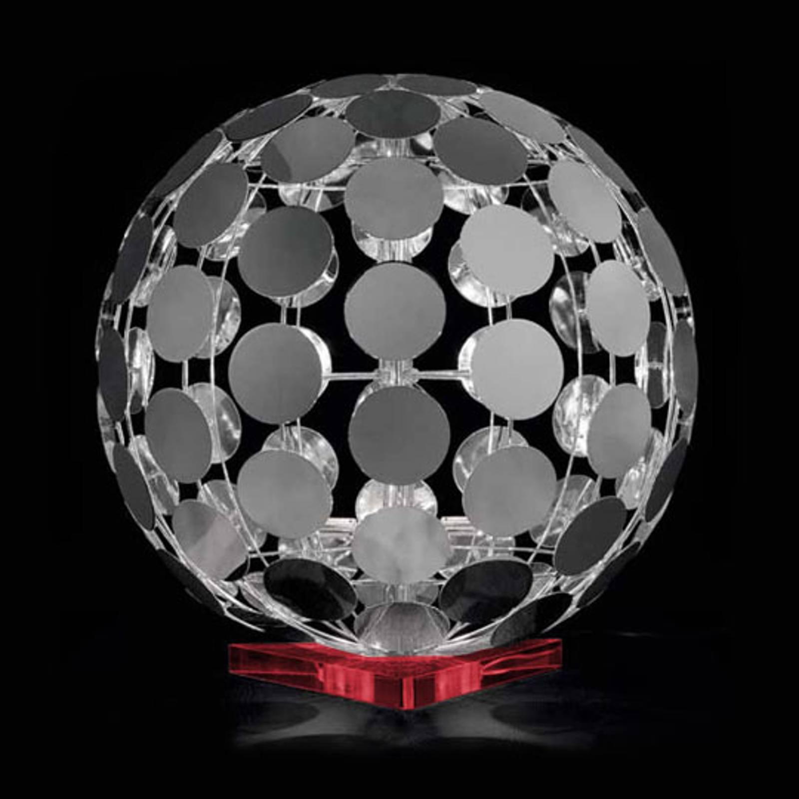 Sfera bordlampe med rød fot, 60 cm