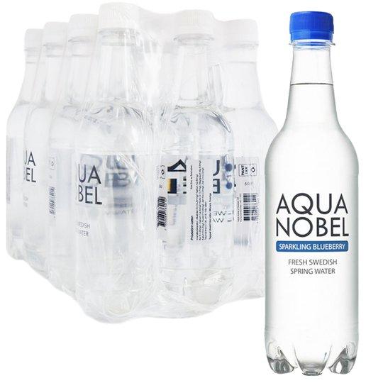 """Hel Låda Kolsyrat Vatten """"Blueberry"""" 12 x 50cl - 68% rabatt"""