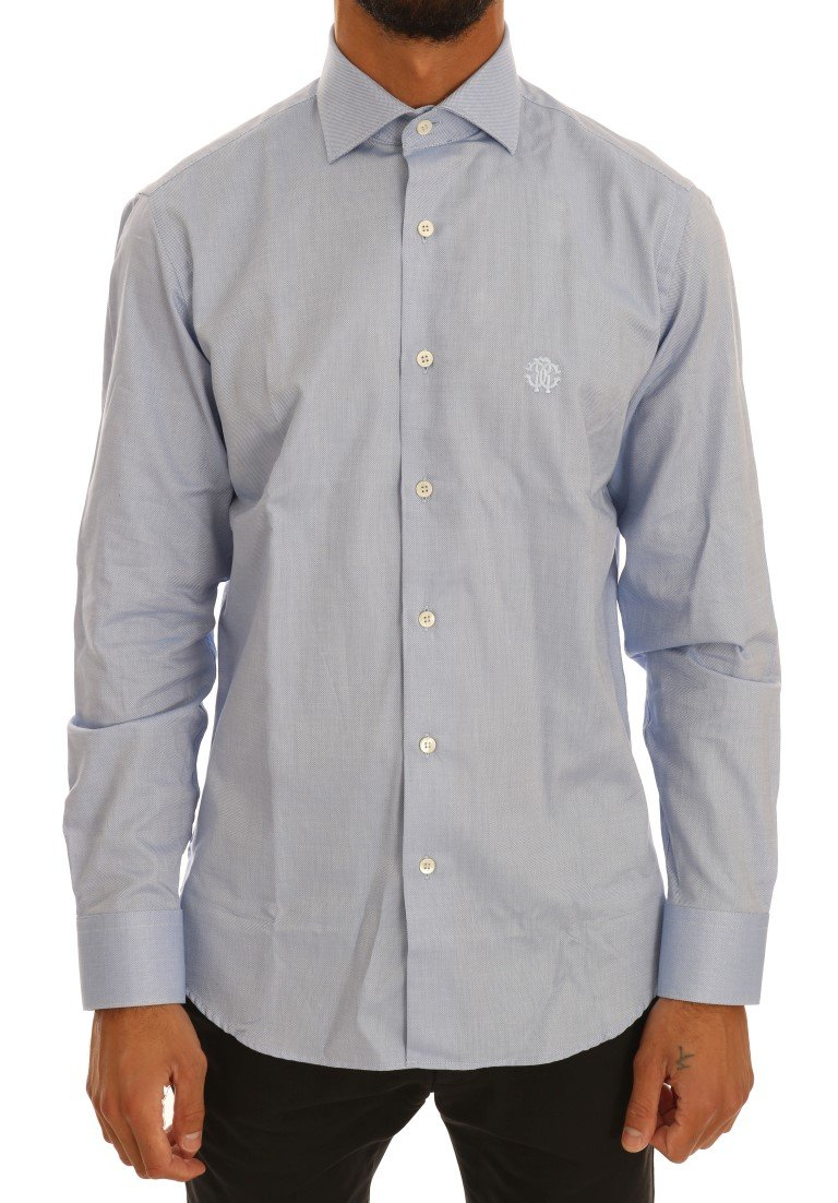 Cavalli Men's Shirt Blue TSH1477 - 39