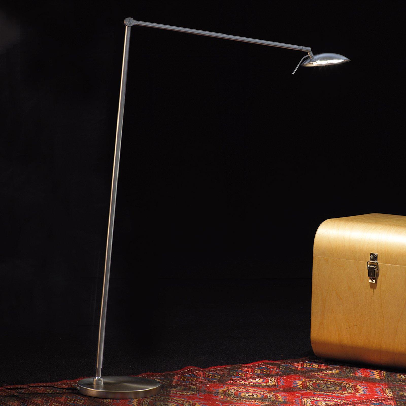 Justerbar LED-gulvlampe Tija med tastedimmer