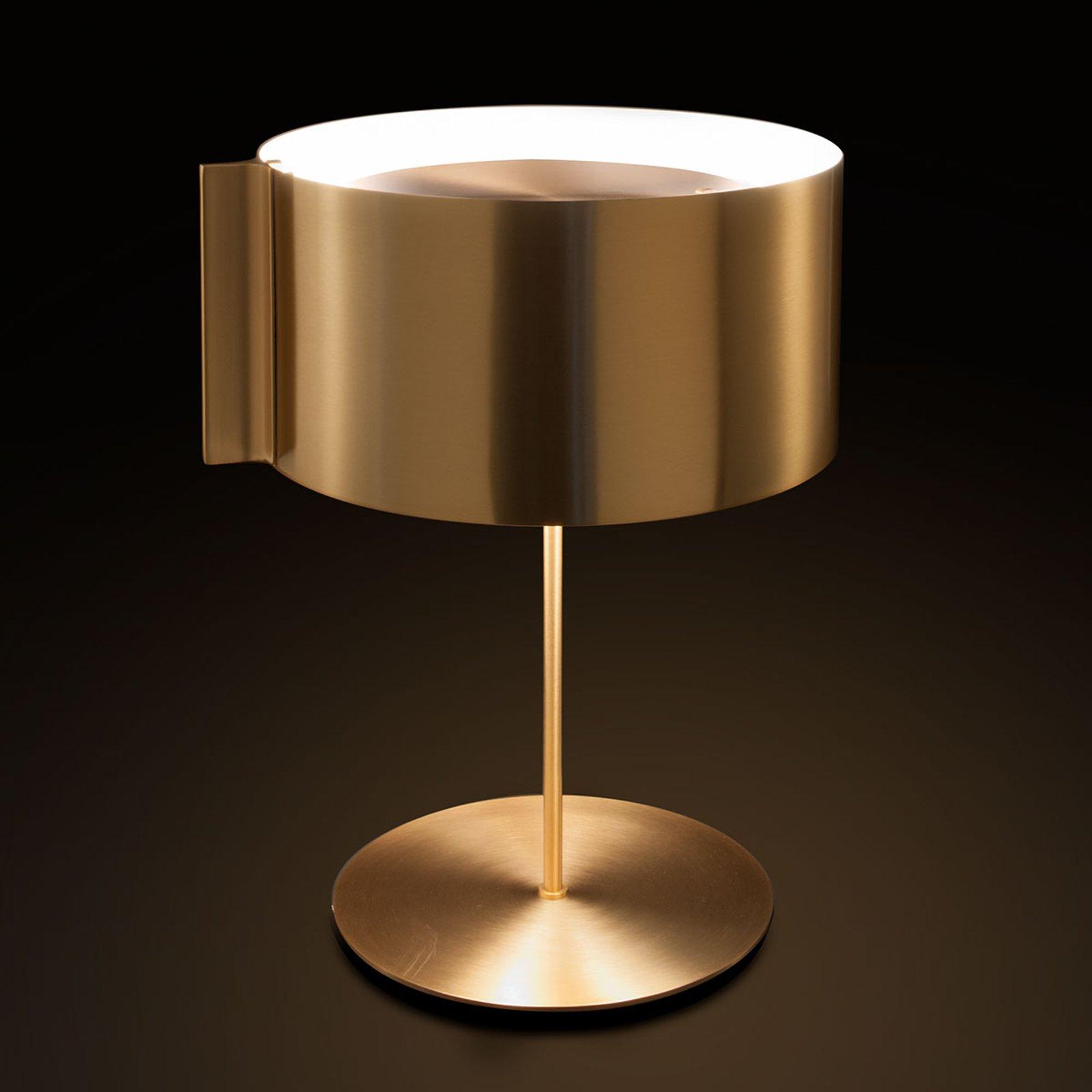 Oluce Switch - gyllen designerbordlampe
