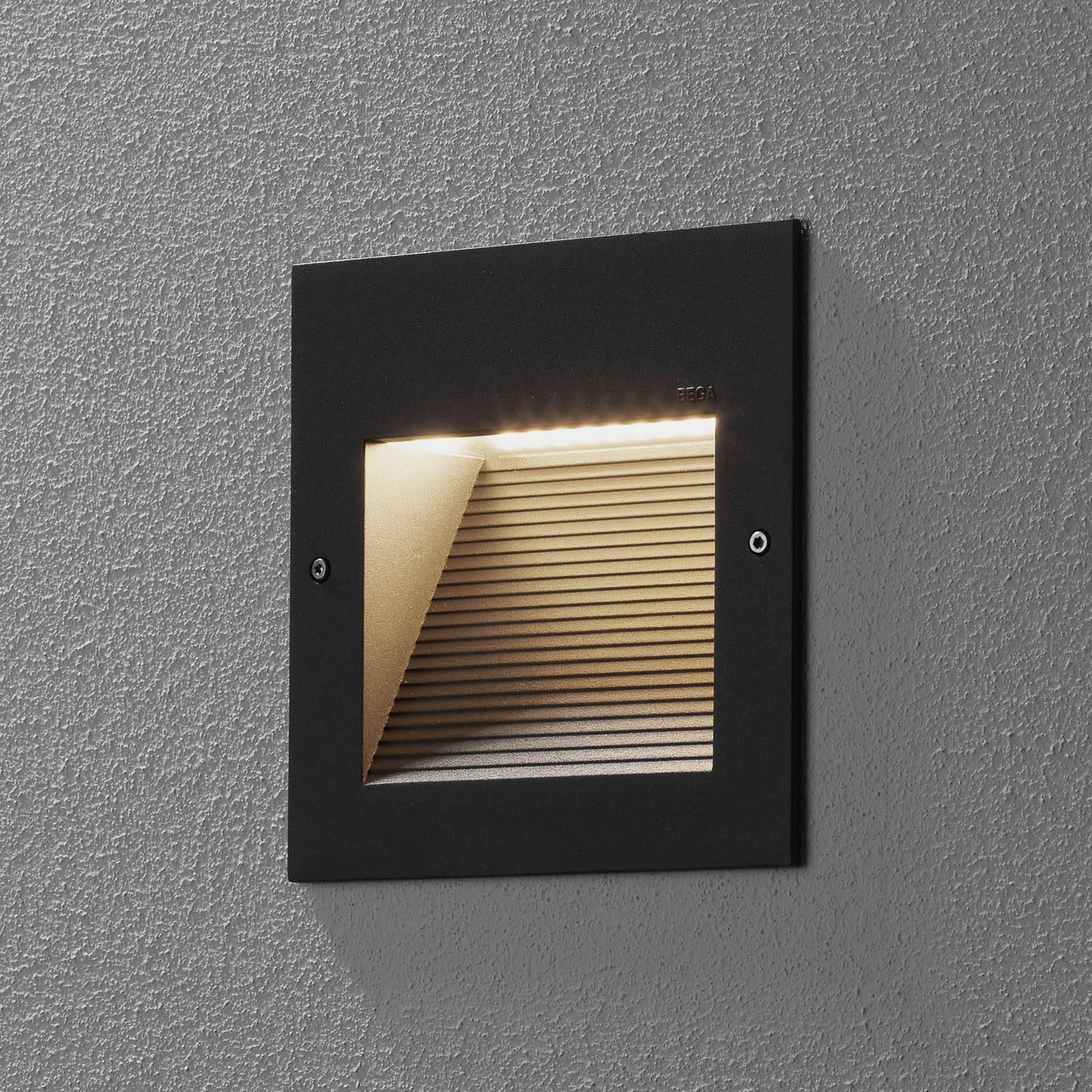 BEGA 24202 LED-seinäuppovalaisin, 3000K, grafiitti