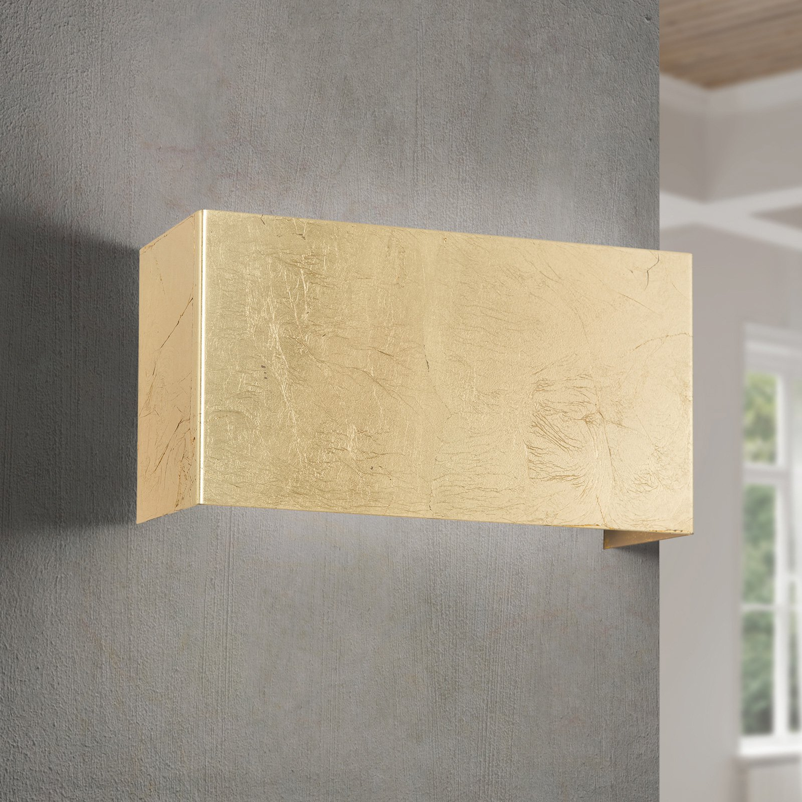 LED-vegglampe Hamilton, antikk-gull