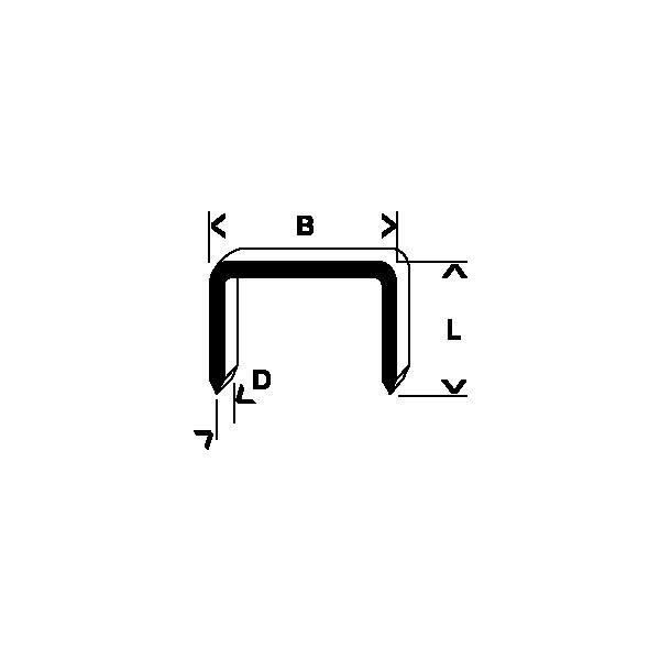 Bosch 2609200230 Klammer Type 57, 8 mm, 1000-pakning