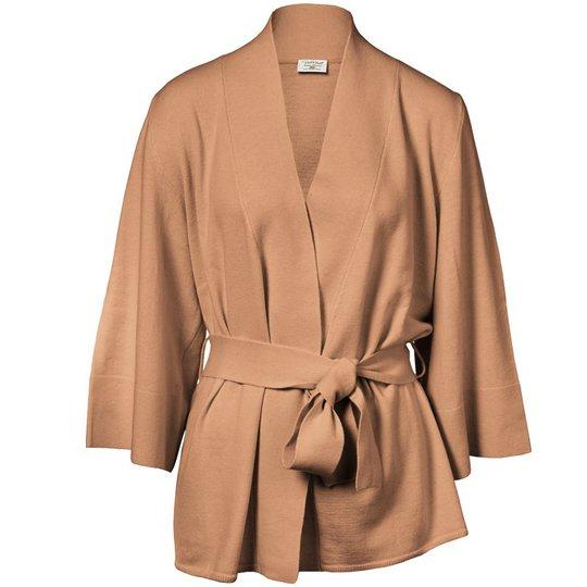Loungewear cardigan Merinoull Kamel Stl L/XL - 67% rabatt