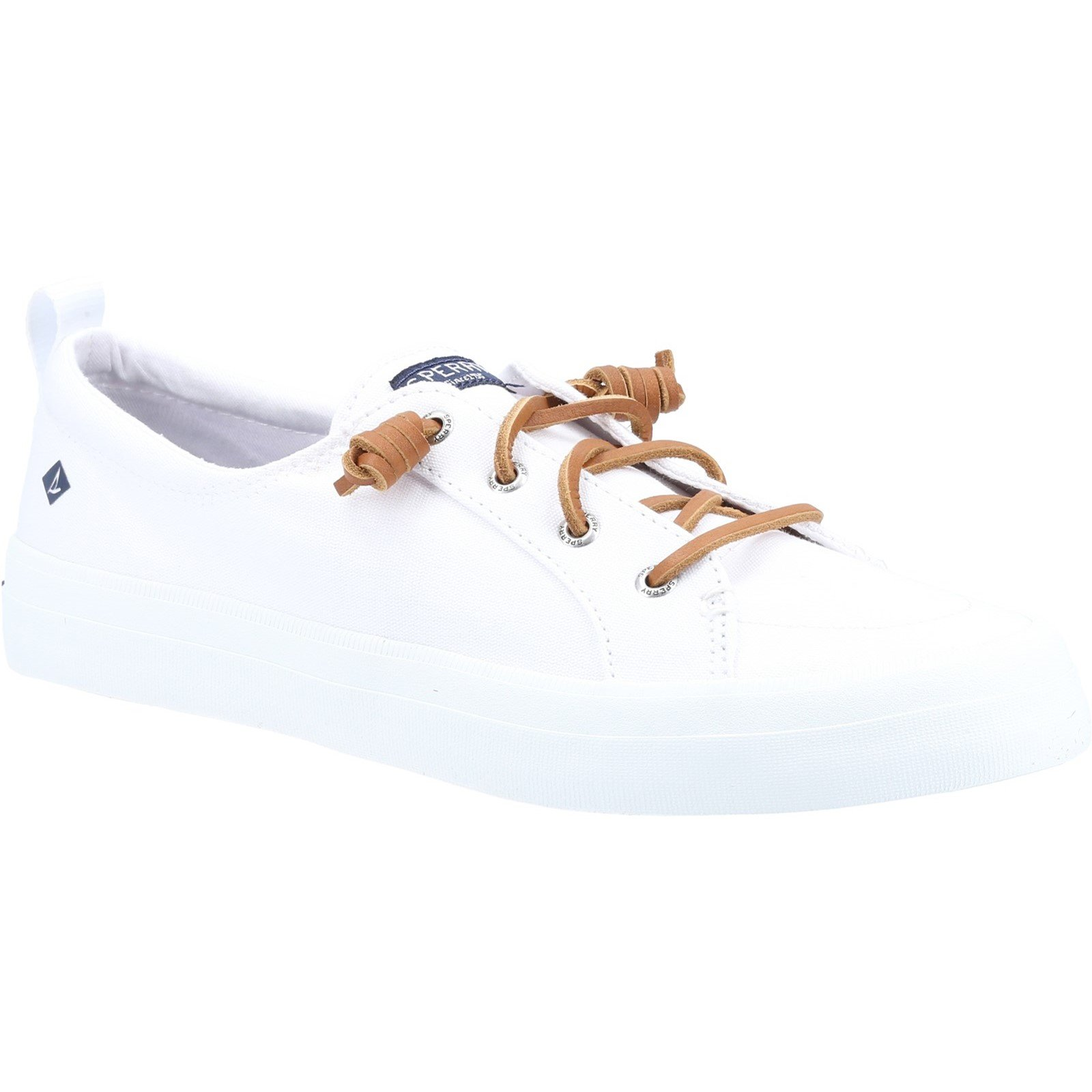 Sperry Women's Crest Vibe Canvas Lace Trainers Various Colours 32937 - White 8
