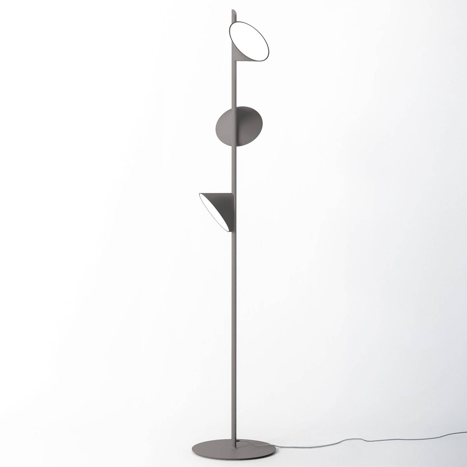 Axolight Orchid LED-lattiavalaisin, tummanharmaa