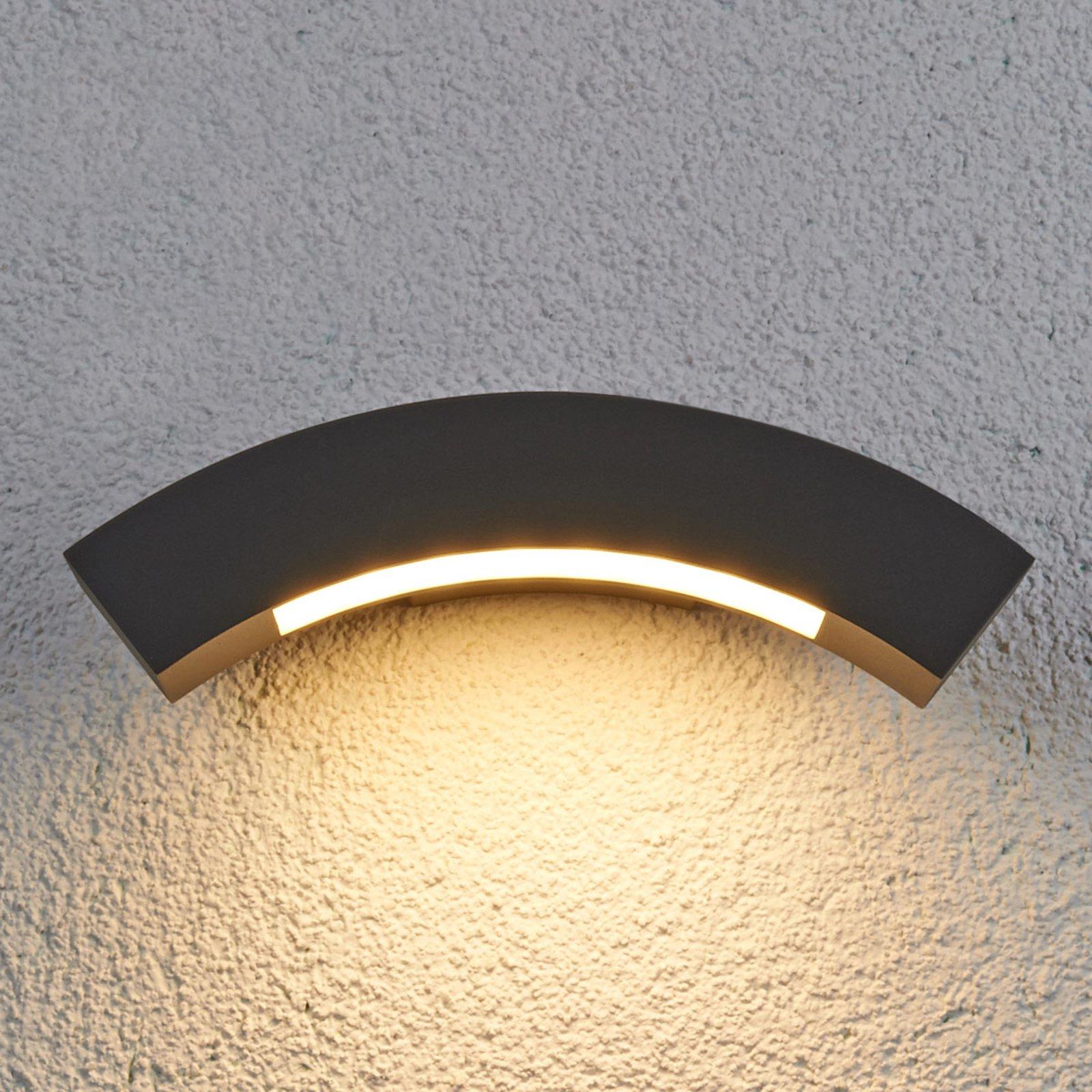 Buet Lennik utendørs LED-vegglampe