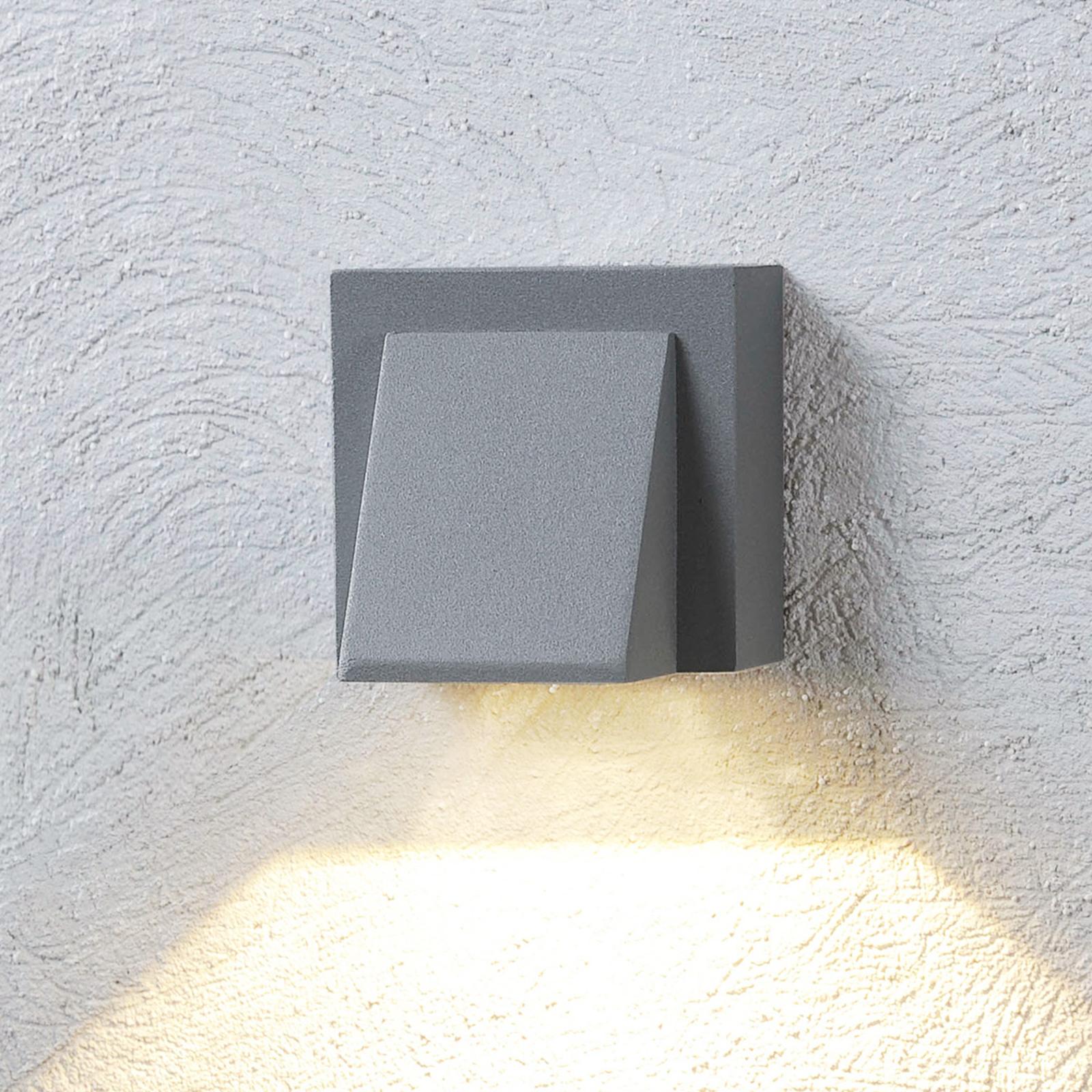 Hopeanharmaa LED-ulkoseinävalaisin Marik