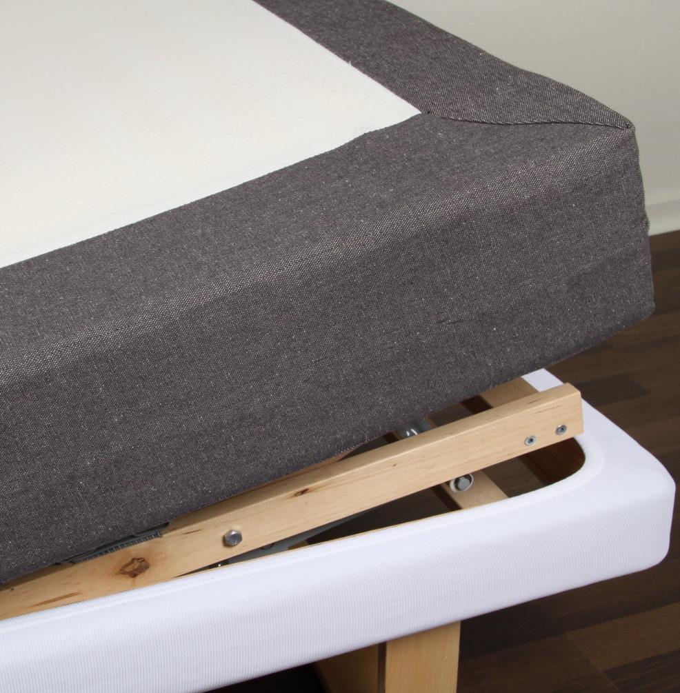 Ramklädsel 105 cm ställbar säng Linne, Värnamo of Sweden