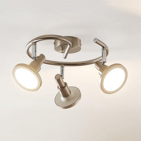 Lindby Unnur -LED-kohdevalo, 3-lamp., pyöreä