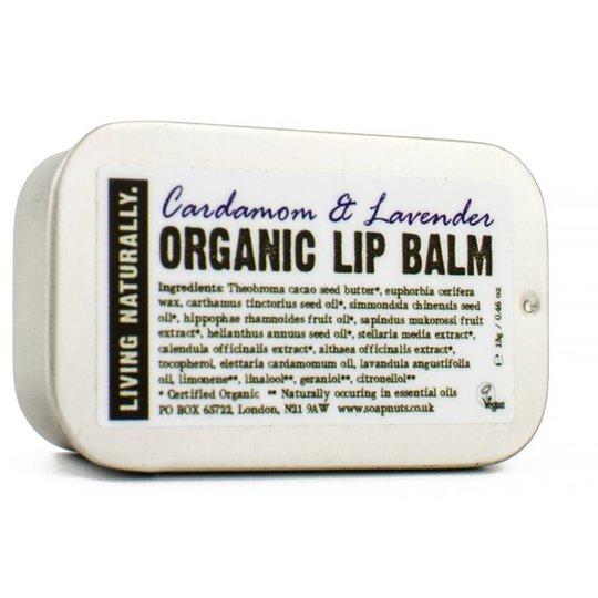 Living Naturally Cardamom & Lavender Lip Balm, 13 g