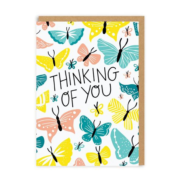 Thinking Of You Butterflies Greeting Card