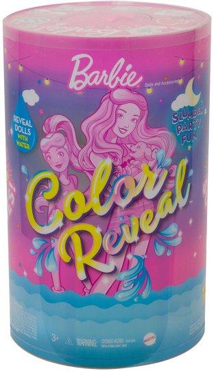 Barbie Color Reveal Slumber Party Surprise Dukke