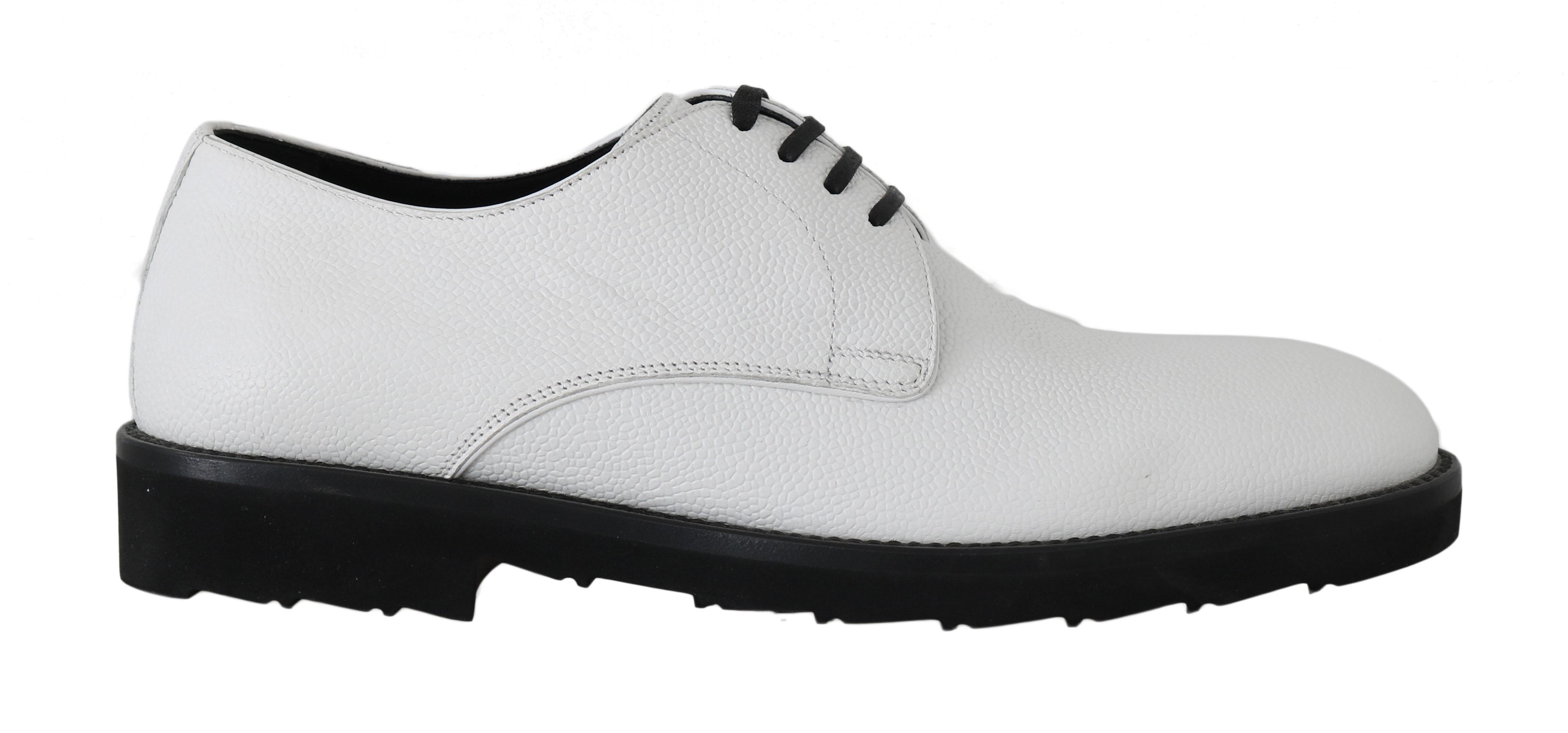 Dolce & Gabbana Men's Leather Formal Derby Shoes White MV2173 - EU45/US12