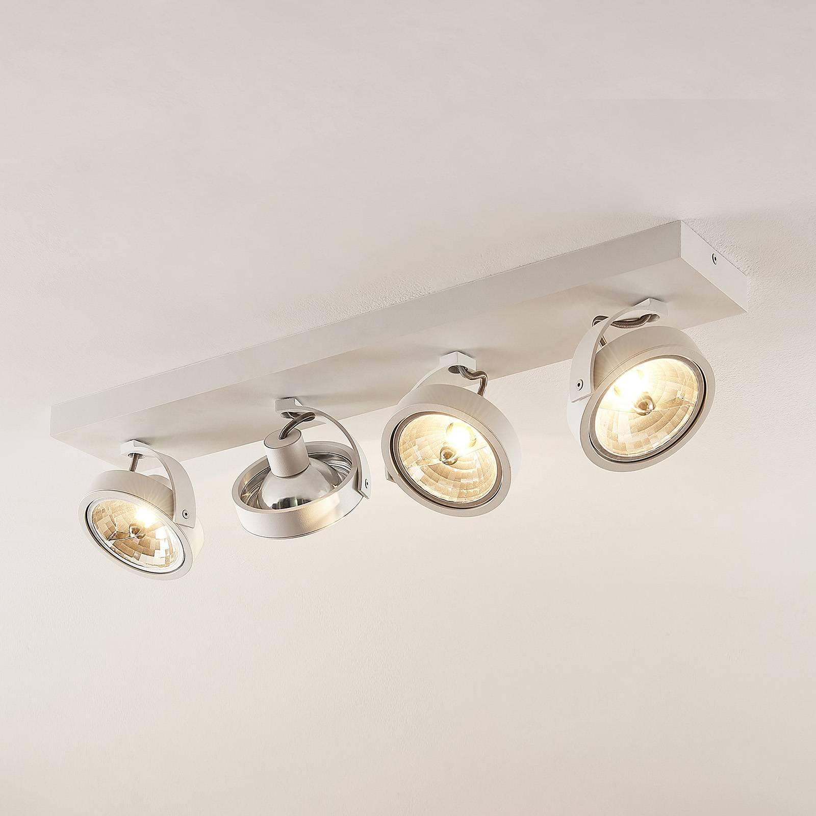 Arcchio Dagur -kattovalo, 4-lamp., valkoinen