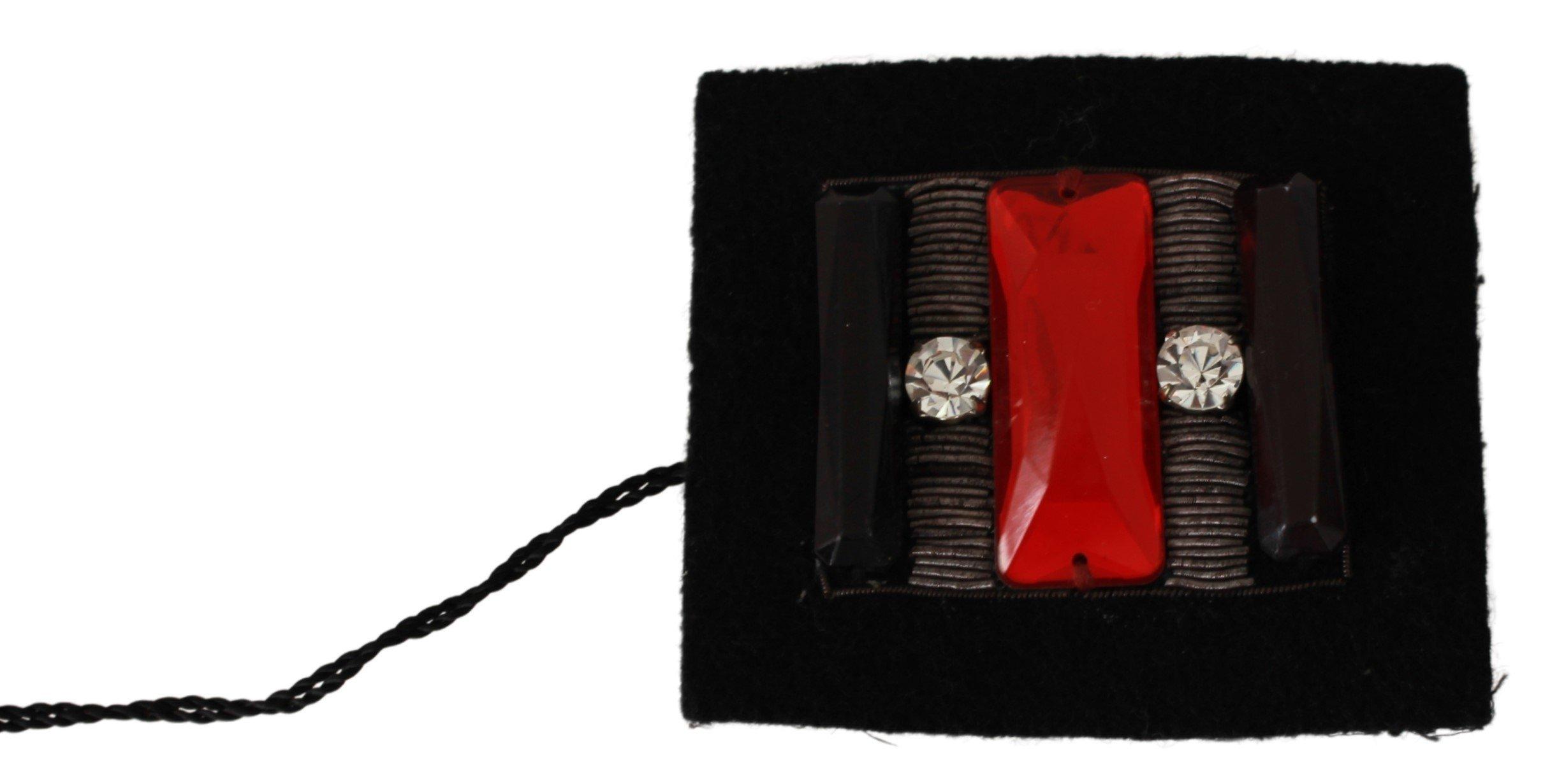 GF Ferre Women's Crystals Square Pin Brooch Multicolor SMY7042