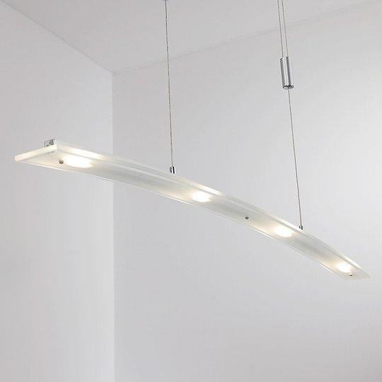 Juna - LED-hengelampe med glasskjerm, 98 cm lang