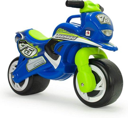 Injusa Gåbil Thundra Motorsykkel, Blå/Grønn