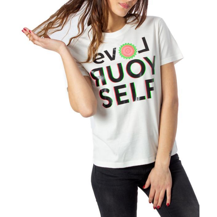 Desigual Women's T-Shirt White 170637 - white M