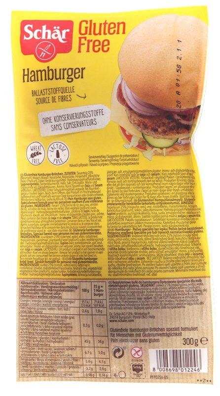 Gluteenittomat Hampurilaissämpylät 4 x 75g - 43% alennus