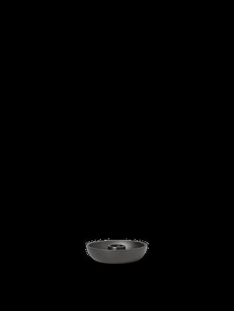 Bowl Ljusstake Single Blackened Aluminium