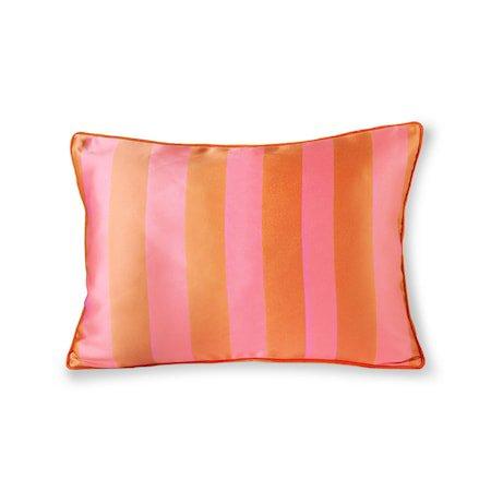 Satin/Velvet Cushion Orange/Pink 35x50 cm