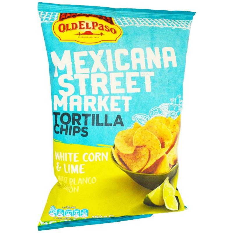 "Tortillasipsit ""White Corn & Lime"" 150g - 75% alennus"