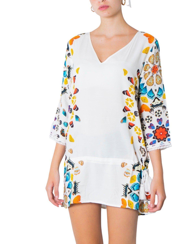 Desigual Women's Top Multicolor 239279 - white XL